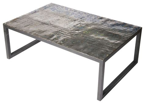 Metal Industrial Coffee Table Large Metal Recycled Drum Coffee Table Industrial Coffee Tables By Aire Furniture