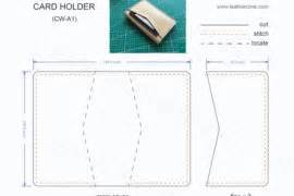 Wallet Card Template Pdf by Slim Card Holder Pattern Pdf Leathercove