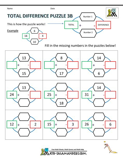 printable math games 3rd grade math puzzle worksheets 3rd grade