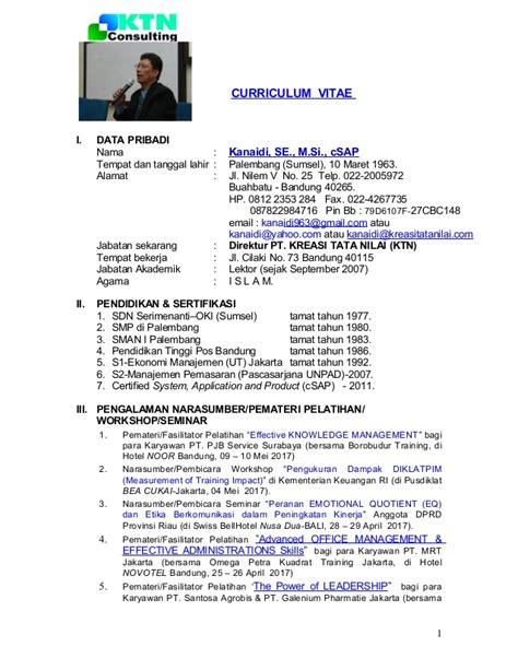 format cv narasumber contoh cv pemateri contoh sr