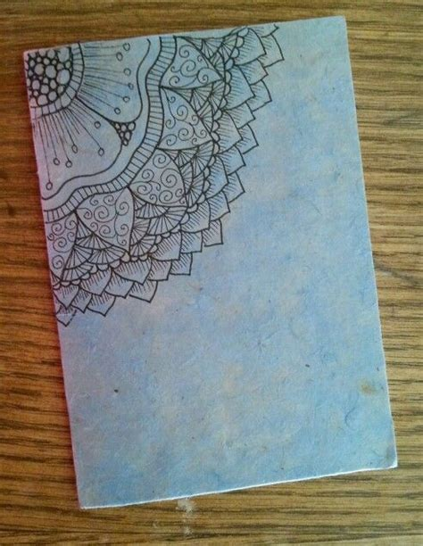 doodle notebooks india diy notebook in rice paper zentangle design a r t