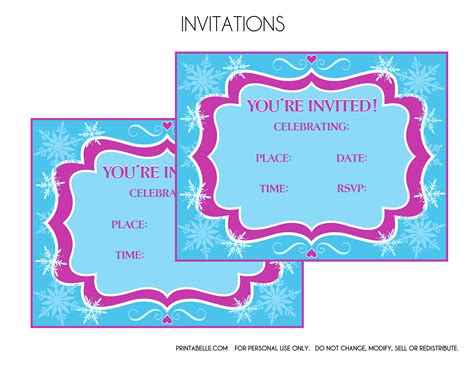 free printable invitations frozen free frozen party printables from printabelle catch my party