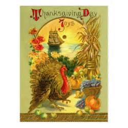 vintage thanksgiving day postcard zazzle