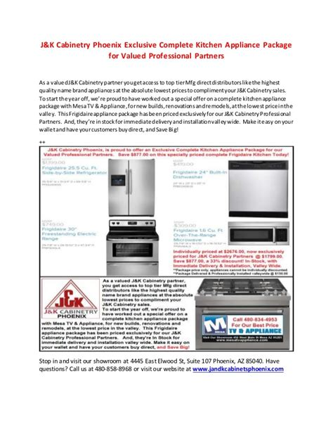complete kitchen appliance packages j k cabinetry phoenix complete kitchen appliance package