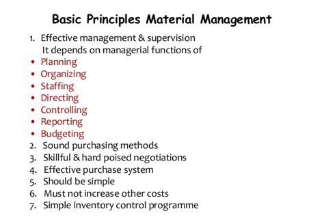 material and inventory management by nitin shekapure