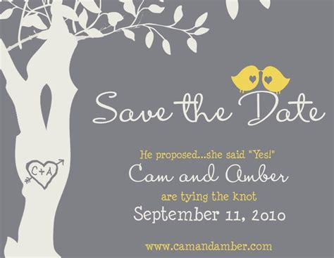 Save The Date by Save The Date Magnet Custom Birdies Save The Date