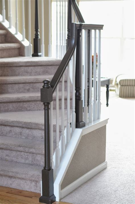 painting wood banister 25 best ideas about painted banister on pinterest