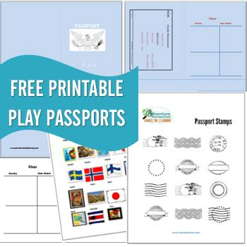 Free Printable Passports Country Sts Children S Play Passport Template