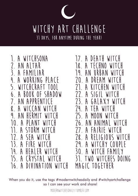 drawing challenge witchy challenge summer is coming and modern