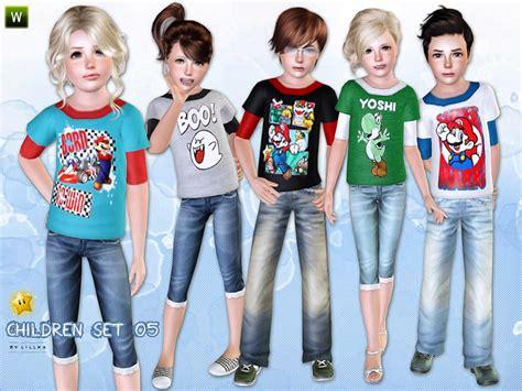child sims 3 jeans lillka s children set 05