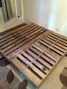 Pallet Bed Frame Diy King King Size Pallet Bed Stuff I Built Beds