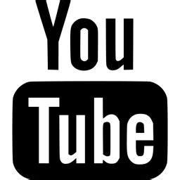 black youtube icon free black site logo icons