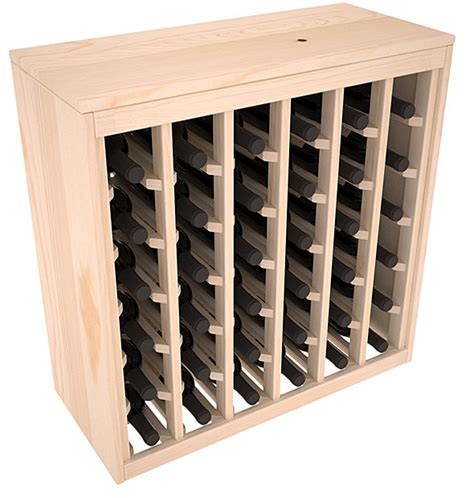 Pine Wine Rack Cabinet by 36 Bottle Cabinet Style Wine Storage Rack Kit In Pine 13