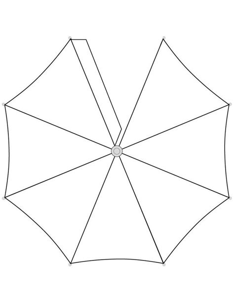 pattern for paper umbrella printable umbrella template cliparts co
