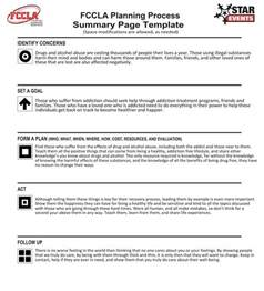 Fccla Planning Process Template by Woods Cross Fccla