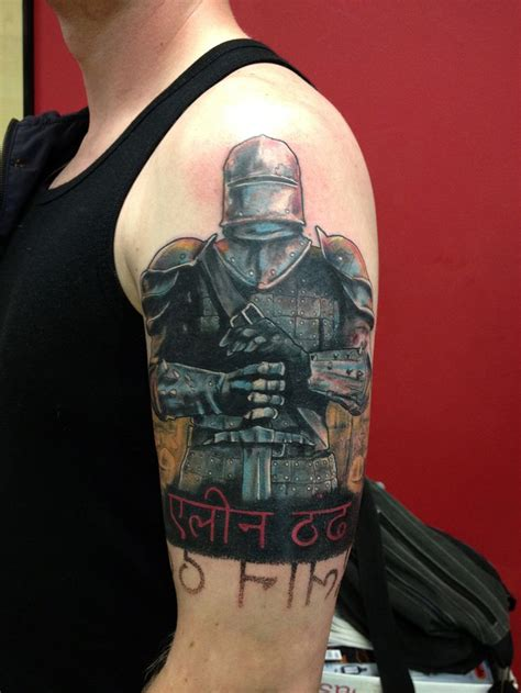 crusader warrior korsridder tattoo tattoos pinterest