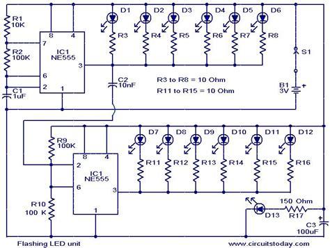 blinking light circuit diagram led unit circuit diagram world