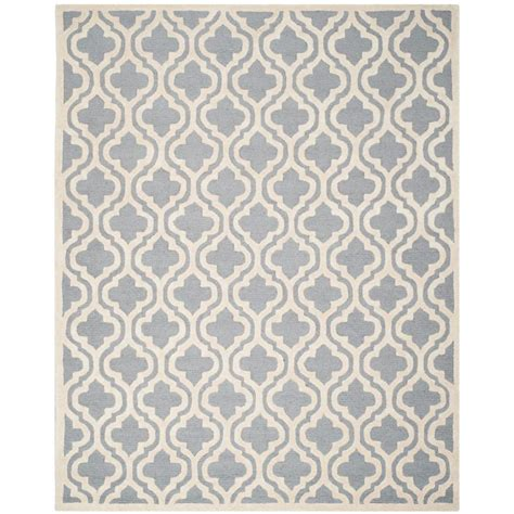 11 X 15 Area Rug Safavieh Cambridge Silver Ivory 11 Ft X 15 Ft Area Rug Cam132d 1115 The Home Depot