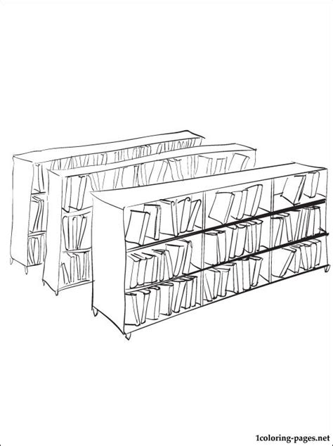 Library Coloring Page Coloring Pages Library Coloring Page