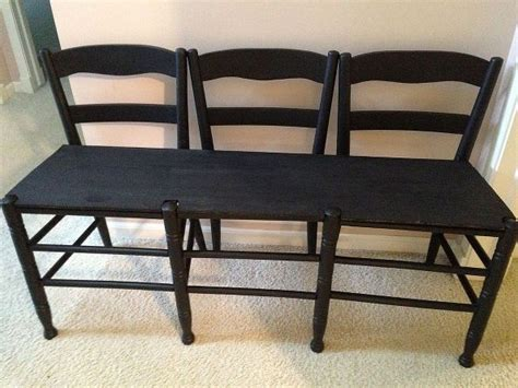 bench made out of chairs hometalk make a bench out of 3 chairs