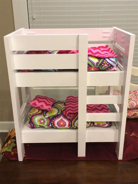american bunk bed plans american doll bunk beds do it yourself home projects from white amercian doll