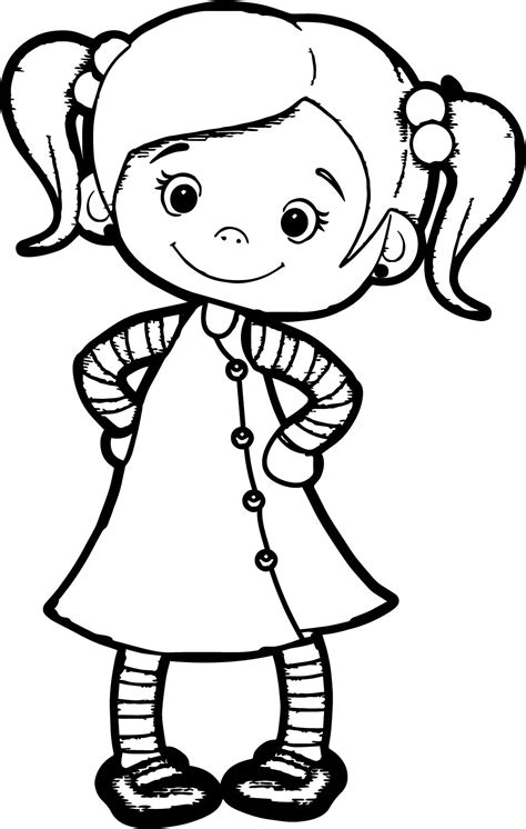 kawaii girl coloring pages beautiful cute girl coloring page wecoloringpage