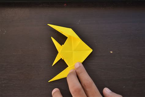 how to make origami fish step by step