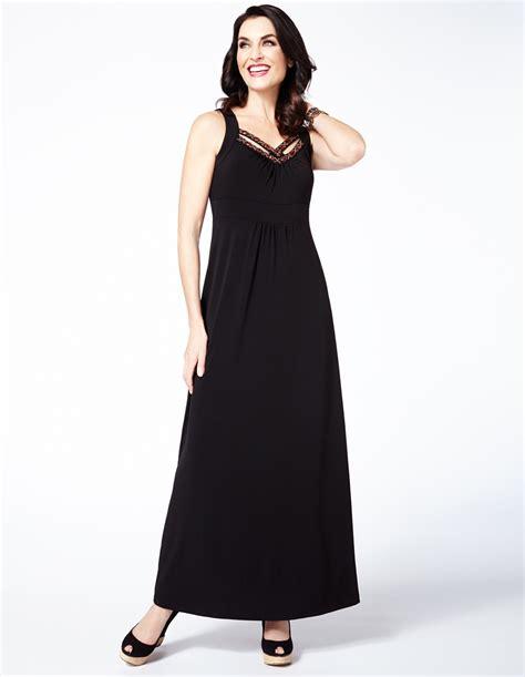 maxi black cleo black beaded maxi dress cleo