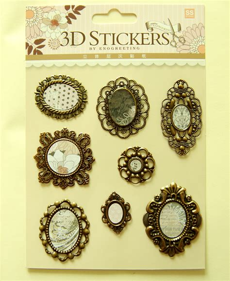 3d Sticker Vintage by M 3d Stickers For Scrapbooking Card Paper Crafts
