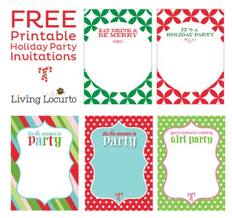 printable xmas party invitations 5 free printable holiday party invitations