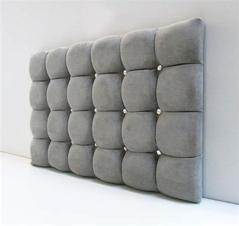 cube padded headboard bed in leather chenille
