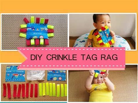 diy crinkle baby easy diy crinkle tag rag baby
