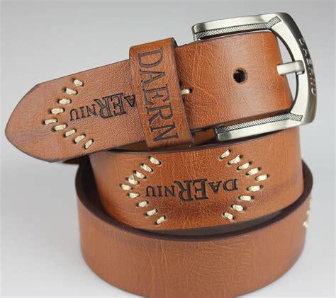 2015 sale mens cowboy belt cow genuine leather belts
