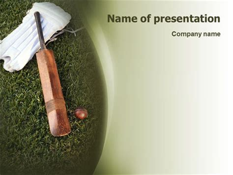 cricket themes for powerpoint 2007 cricket field presentation template for powerpoint and