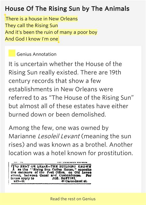 house of the rising sun meaning house of the rising sun meaning lyrics