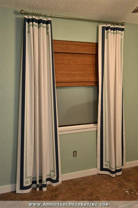 inexpensive drapery panels cheap easy curtain panels customized with paint