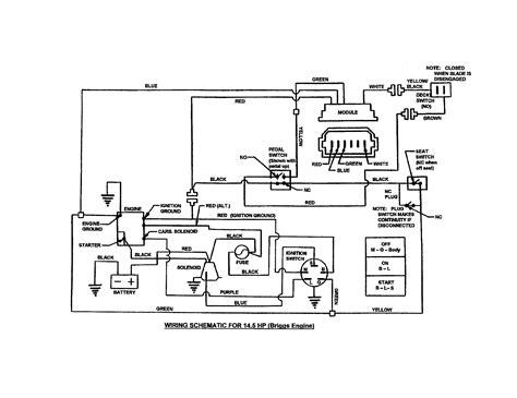 craftsman lawn mower 18 hp wiring diagram wiring diagrams
