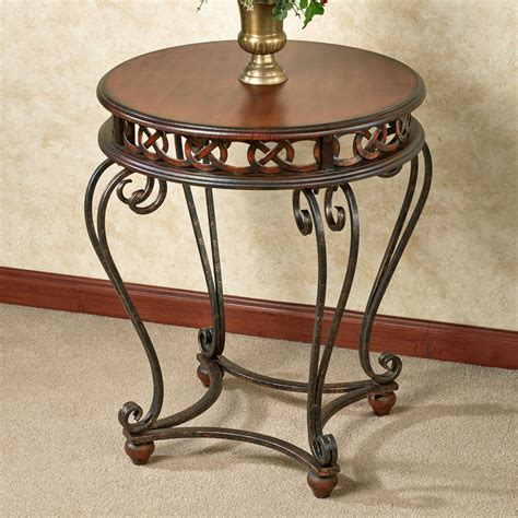 round accent tables addney round top accent table