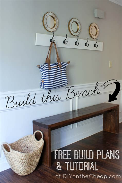 cheap entryway bench entryway bench plans tutorial erin spain
