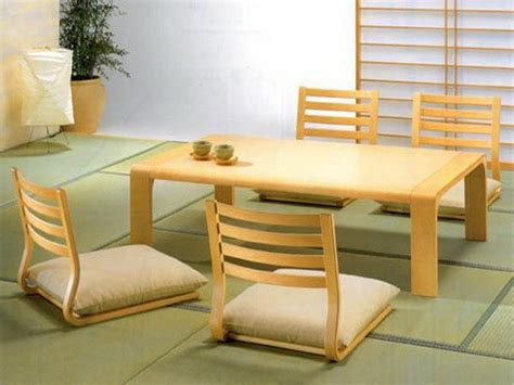 Japanese Style Floor Dining Table by Stylish Rectangle Pine Japanese Dining Table With Four