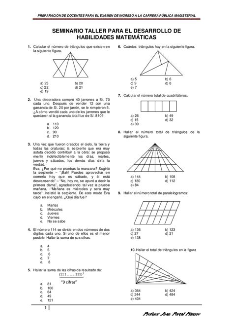 preguntas de habilidad matematica comipems razonamiento matematico para docentes
