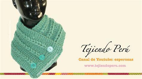 cuello bufanda en crochet paso a paso funnycat tv cuello con trenzas de vainillas tejido en dos agujas