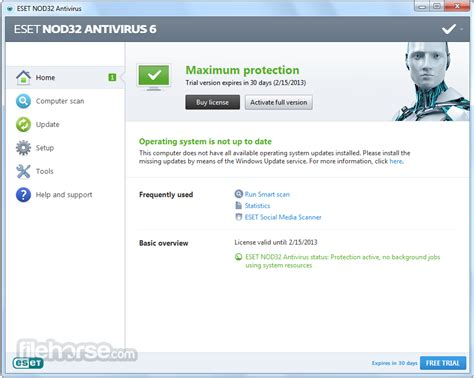 free download eset nod32 antivirus full version username password eset nod32 antivirus 6 free download full version with