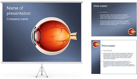 ophthalmology template human eye powerpoint template backgrounds id 0000000664