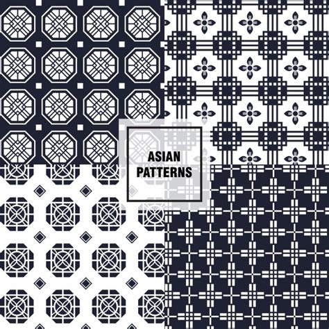 asian pattern ai black and white asian patterns vector free download