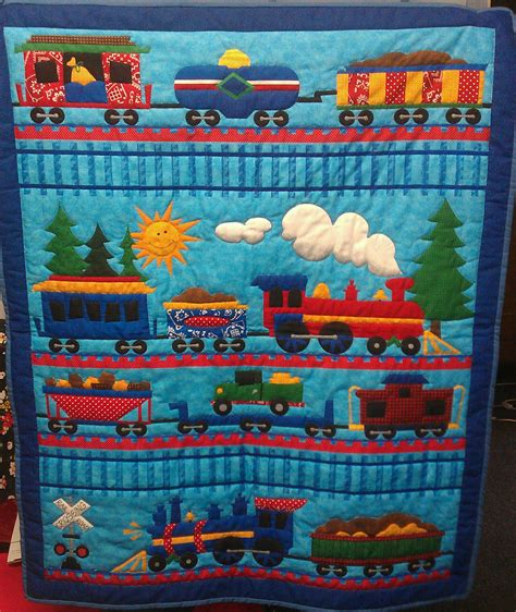 Patchwork Quilt Patterns For Boys - quilted baby boy quilt proyectos