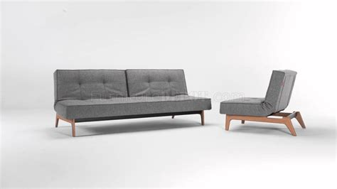 sofa bed legs splitback sofa bed in gray w eik legs by innovation w options