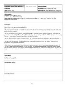 Failure Analysis Report Outline by Analysis Report Template Helloalive