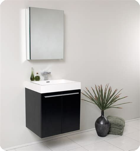 Modern Black Bathroom Vanity Fresca 23 Inch Black Modern Bathroom Vanity