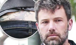 ben affleck tattoo removal ben affleck reveals after garner divorce